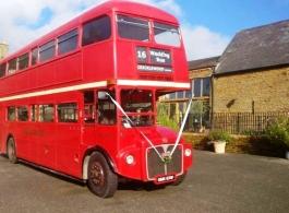 Red London bus for wedings in Milton keynes